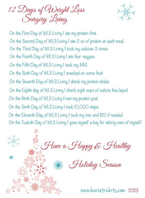 12 Days of Post Weight Loss Surgery Living
