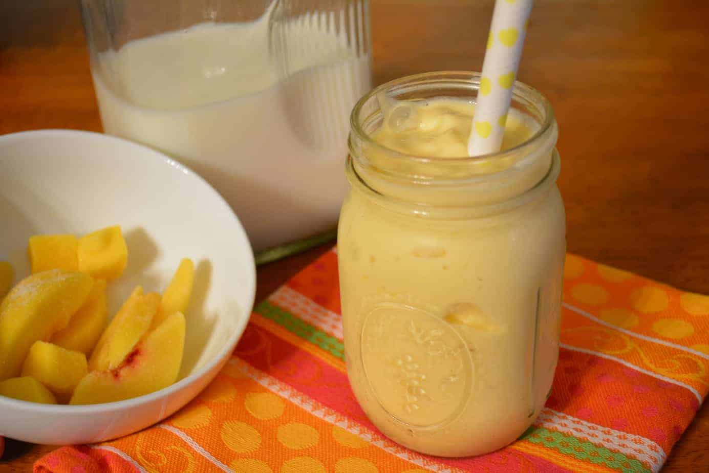 Mango Peach Smoothie {Recipe} - Bariatric Bits