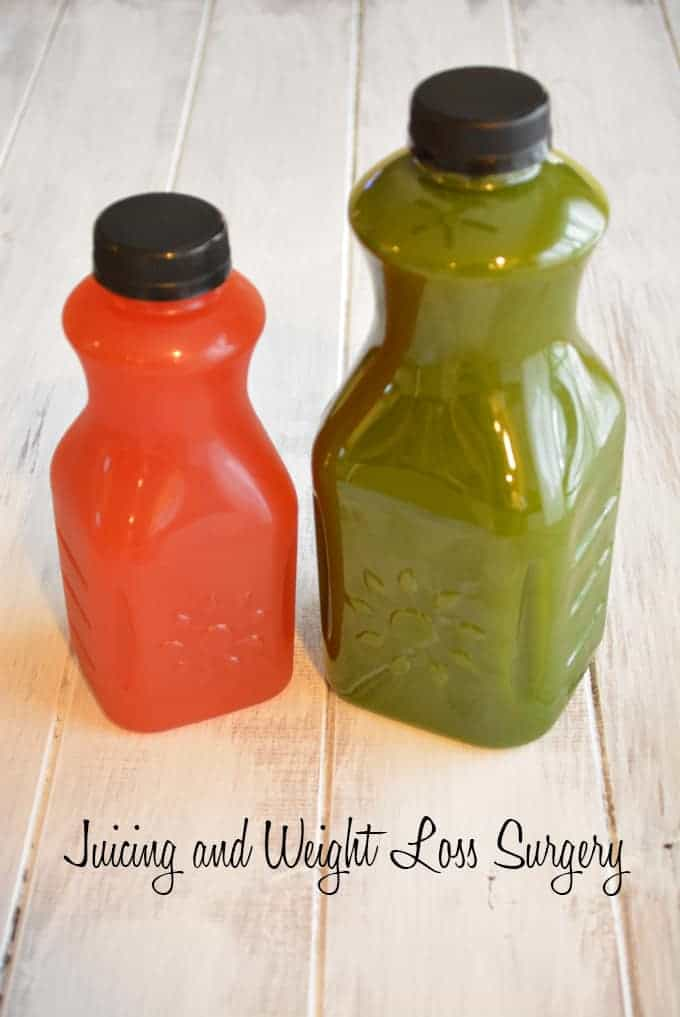 Juicing and Weight Loss Surgery