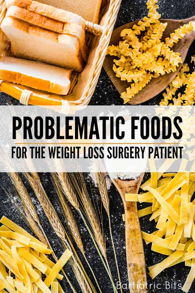 Problematic foods after weight loss surgery: bread and pasta