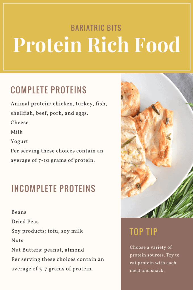 Protein Rich Food perfect for weight loss surgery patients.