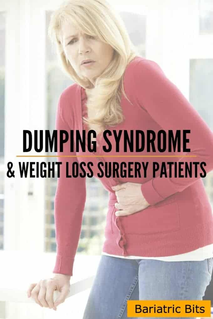 Woman with belly pain from Dumping Syndrome.