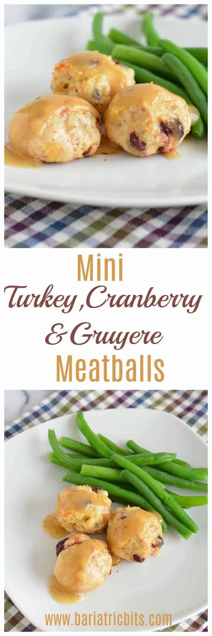 Cranberry, Sage, & Gruyere Turkey Meatballs