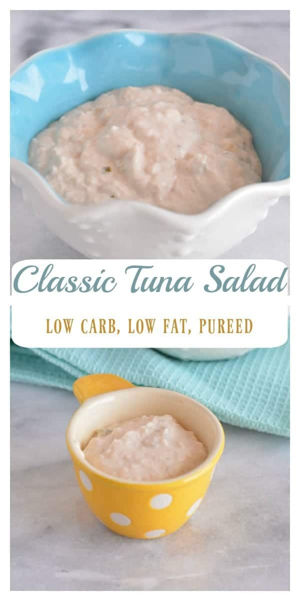 Pinterst image for puree tuna salad.