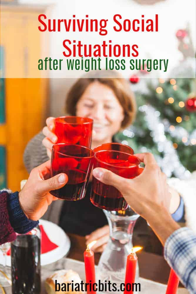 Holiday Gathering after weight loss surgery.