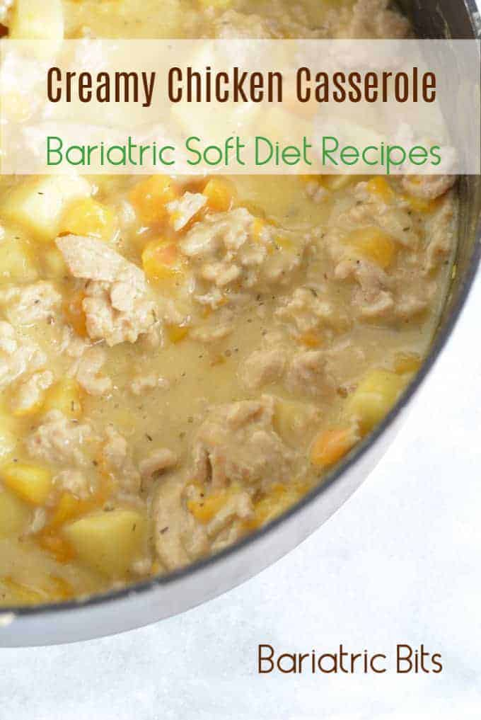 Creamy chicken with squash and apples in a pan.