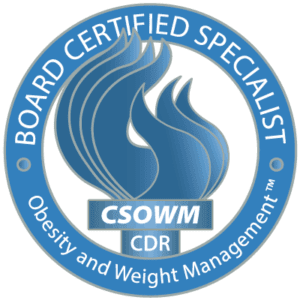 Logo of a board certified specialist in obesity and weight management